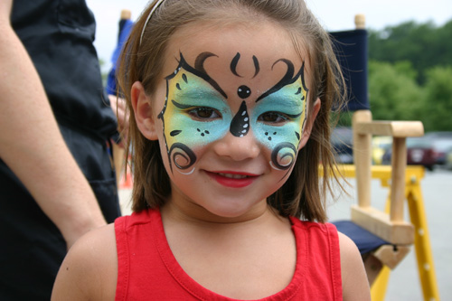 Sylvia Brewster Girl Butterfly Face Painting
